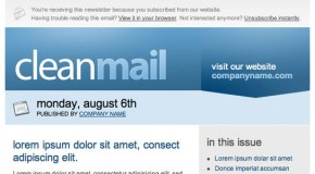 CleanMail Email Newsletter Template
