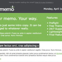 MyMemo Email Newsletter Template