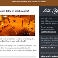 theClub Email Newsletter Template